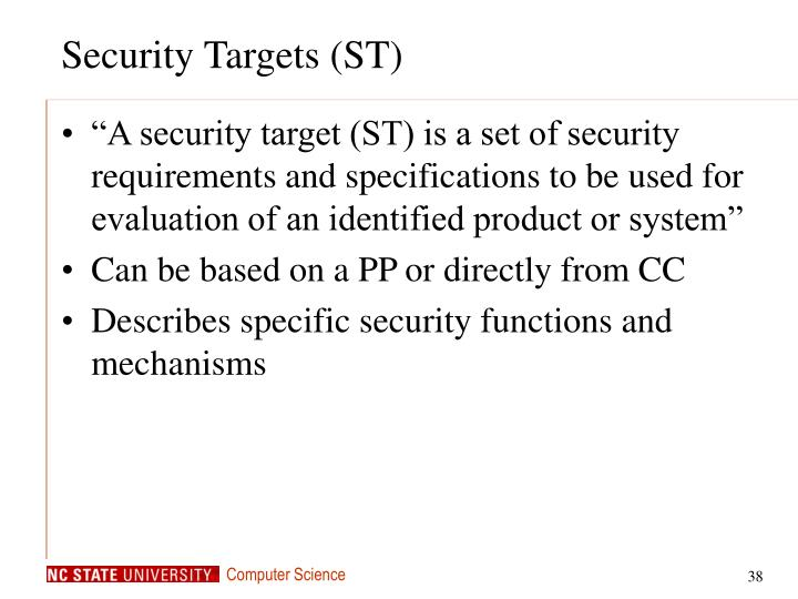 Security Targets (ST)