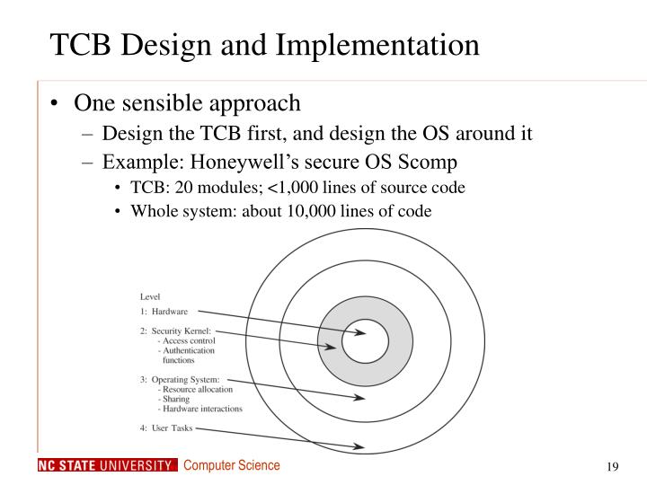 TCB Design and Implementation