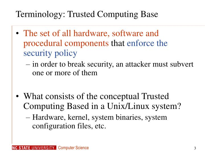 Terminology: Trusted Computing Base