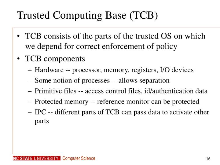 Trusted Computing Base (TCB)