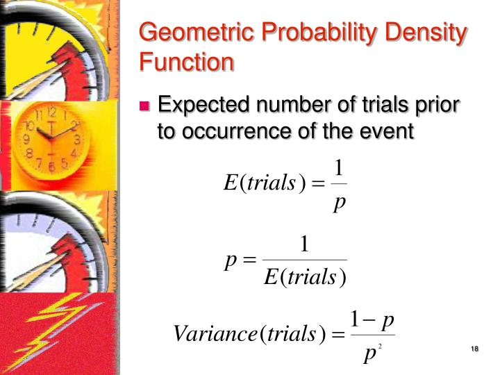 Geometric Probability Density Function