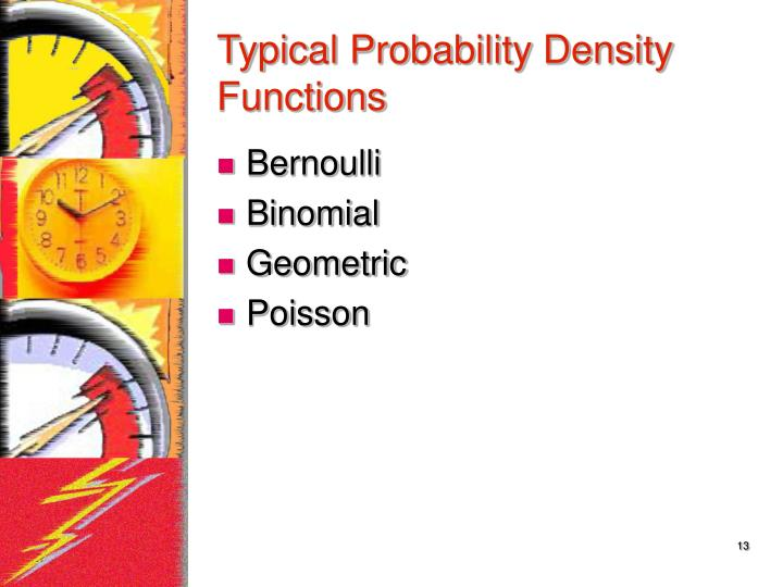 Typical Probability Density Functions
