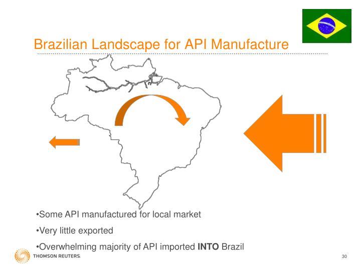 Brazilian Landscape for API Manufacture