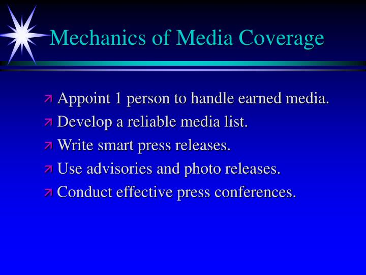 Mechanics of Media Coverage