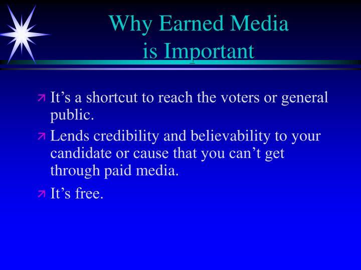 Why Earned Media