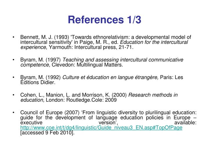 References 1/3