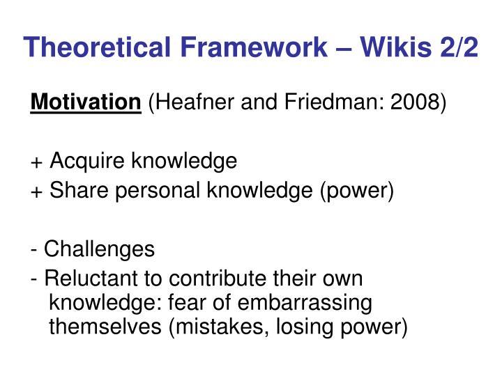 Theoretical Framework – Wikis 2/2