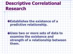 descriptive correlational research