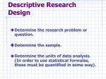 descriptive research design