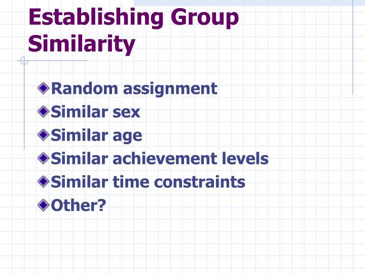 Establishing Group Similarity
