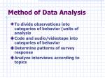method of data analysis