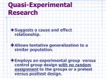 quasi experimental research