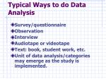 typical ways to do data analysis