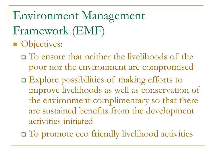 Environment Management Framework (EMF)