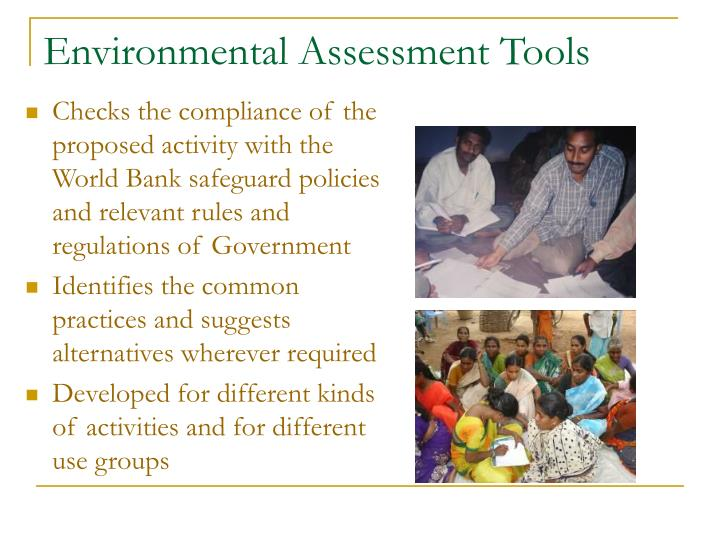 Environmental Assessment Tools