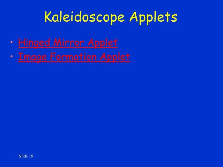 Kaleidoscope Applets