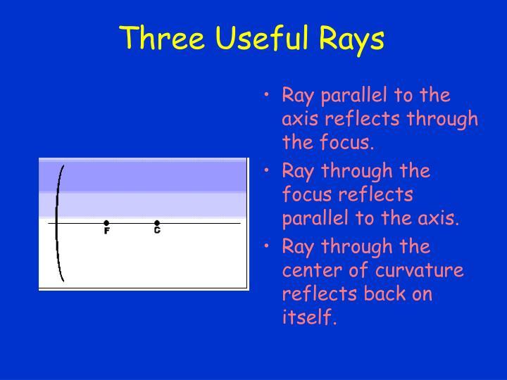 Three Useful Rays