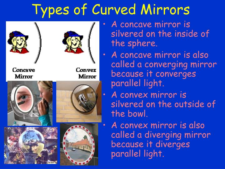 Types of Curved Mirrors
