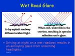 wet road glare