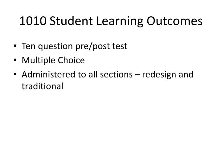 1010 Student Learning Outcomes
