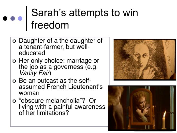 Sarah's attempts to win freedom
