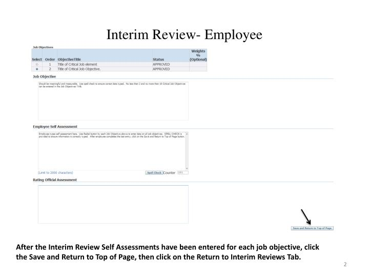 Interim Review- Employee