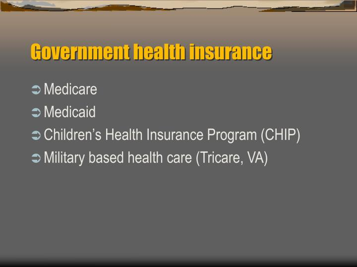 Government health insurance