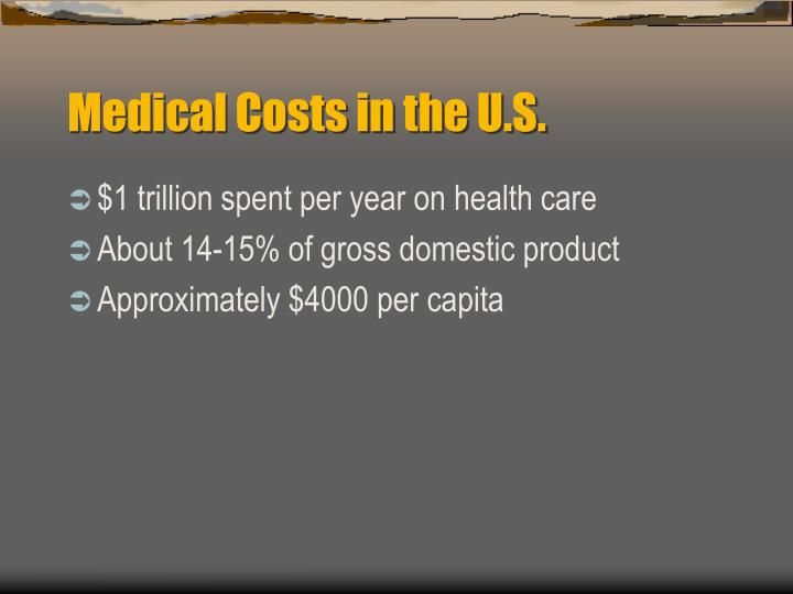 Medical Costs in the U.S.