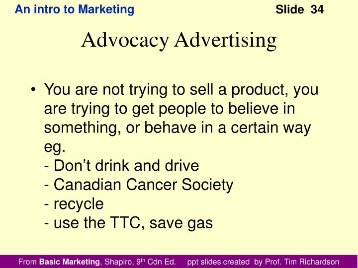 You are not trying to sell a product, you are trying to get people to believe in something, or behave in a certain way