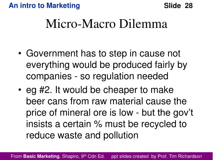 Government has to step in cause not everything would be produced fairly by companies - so regulation needed