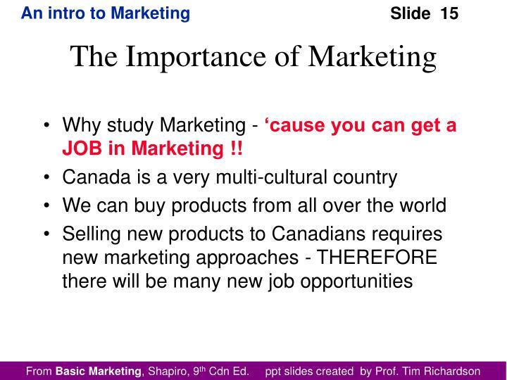 Why study Marketing -