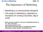 the importance of marketing1