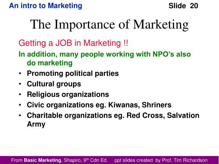Getting a JOB in Marketing !!
