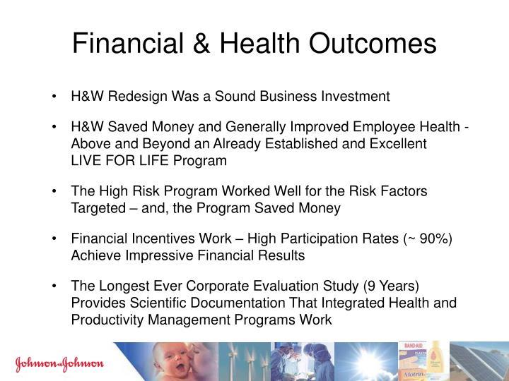 Financial & Health Outcomes