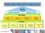 healthy people healthy planet healthy business