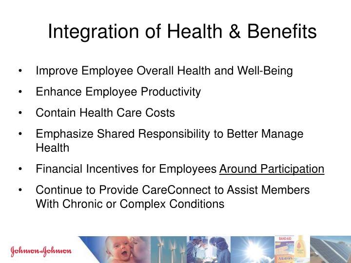 Integration of Health & Benefits