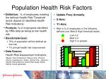 population health risk factors