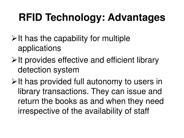 RFID Technology: Advantages