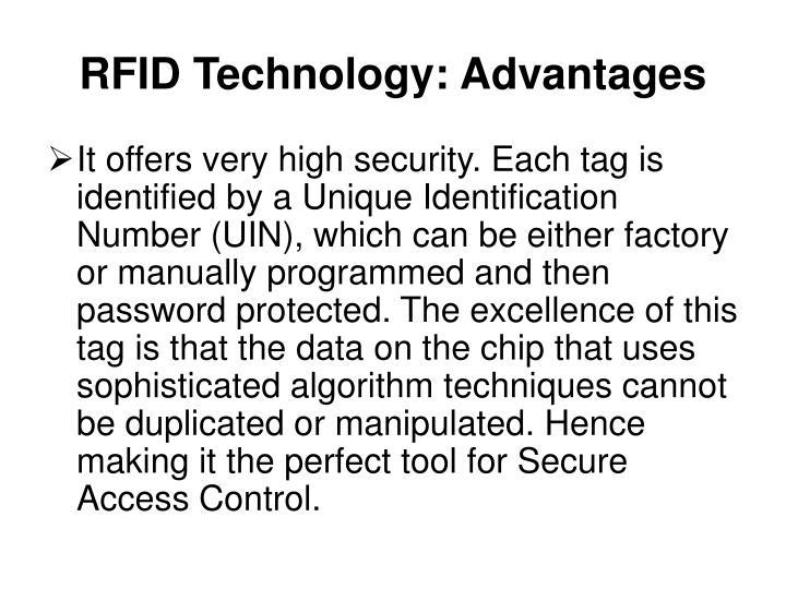 RFID Technology: Advantages