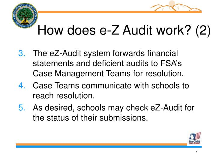 How does e-Z Audit work? (2)