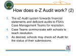 how does e z audit work 2