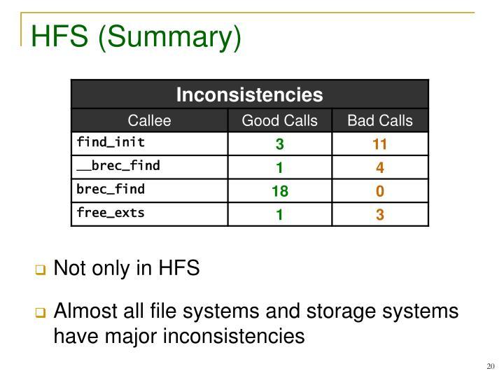 HFS (Summary)