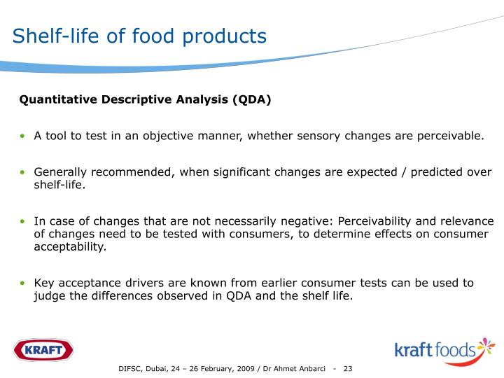 Shelf-life of food products