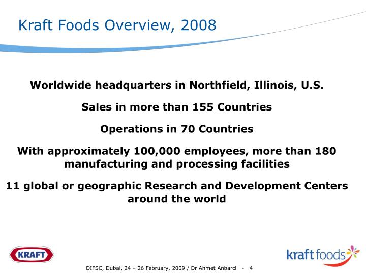 Kraft Foods Overview, 2008