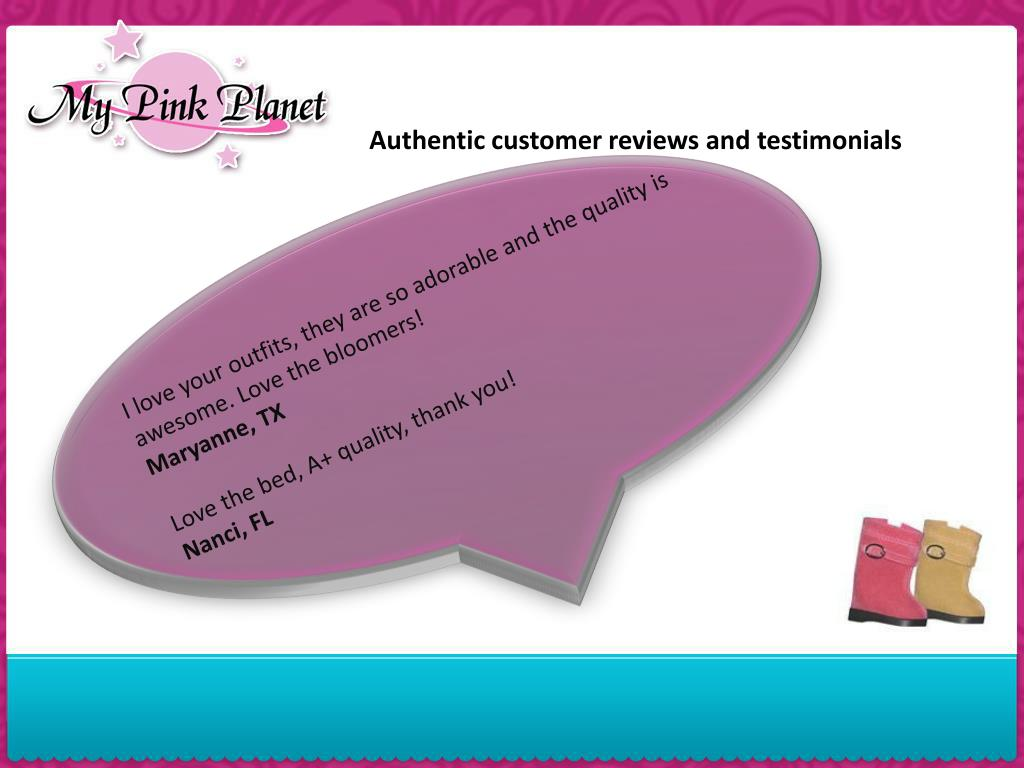Authentic customer reviews and testimonials
