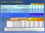 esa 2 1 fee model