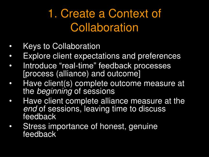 1. Create a Context of Collaboration