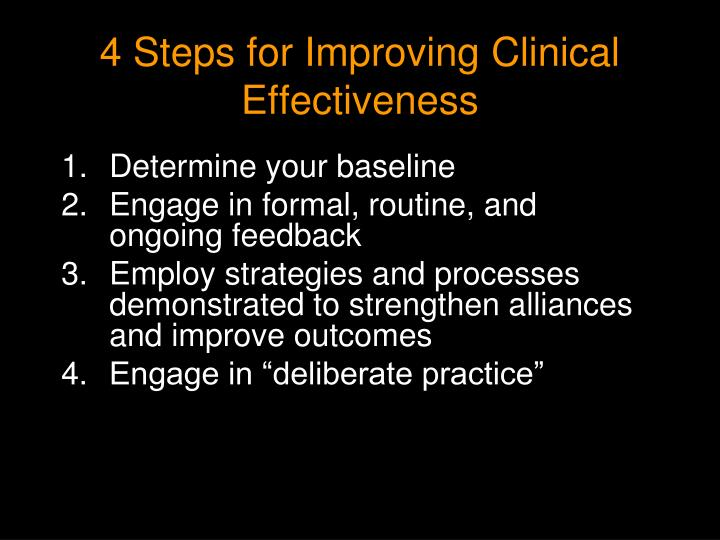 4 Steps for Improving Clinical Effectiveness