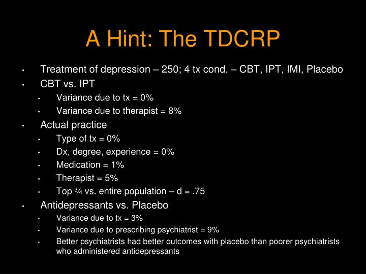 A Hint: The TDCRP