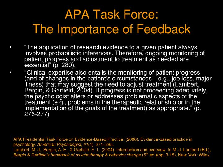 APA Task Force: